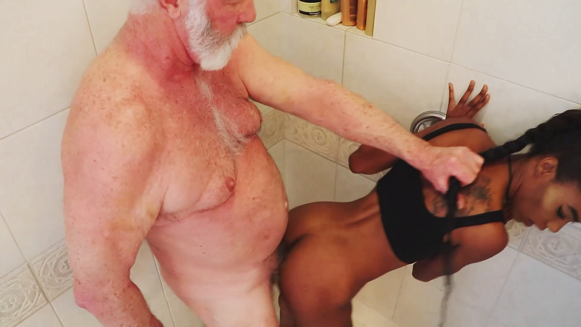 doggystyle blowjob Shower makeout