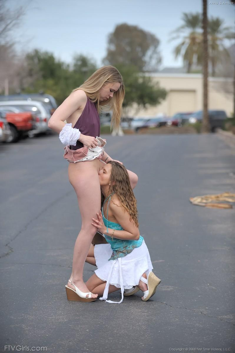 Teenager pussy eating outdoor glamour