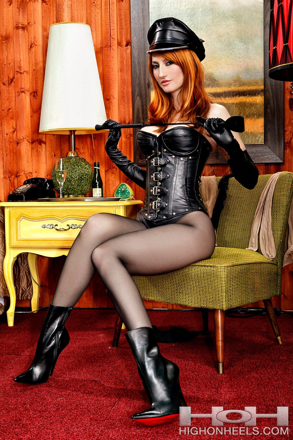 domination exhibitionist maid Shemale
