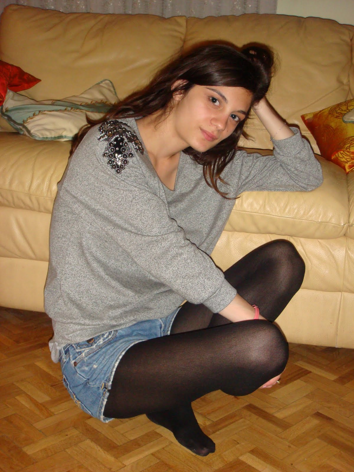 teenager glamour Pantyhose pounded