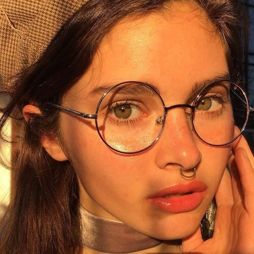 glasses Licking piercing shared