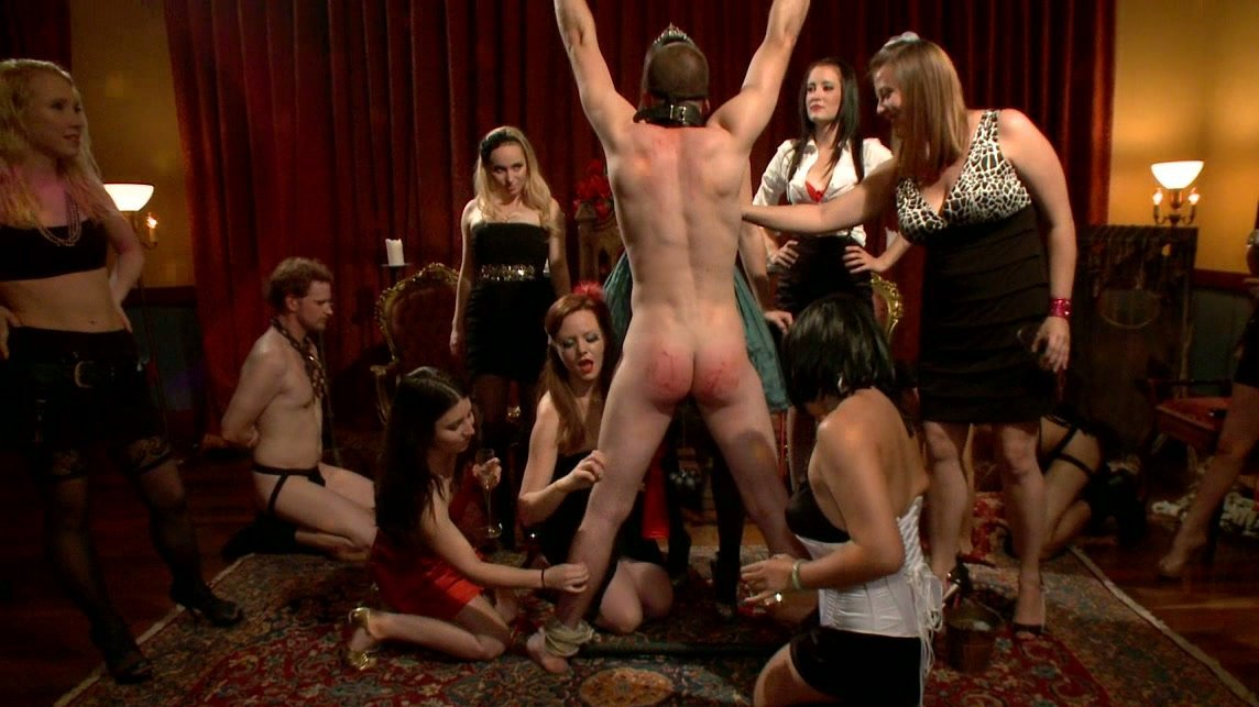 Mistress drilled gangbang softcore