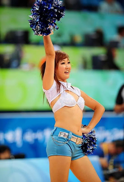 otngagged Woman asian cheerleaders