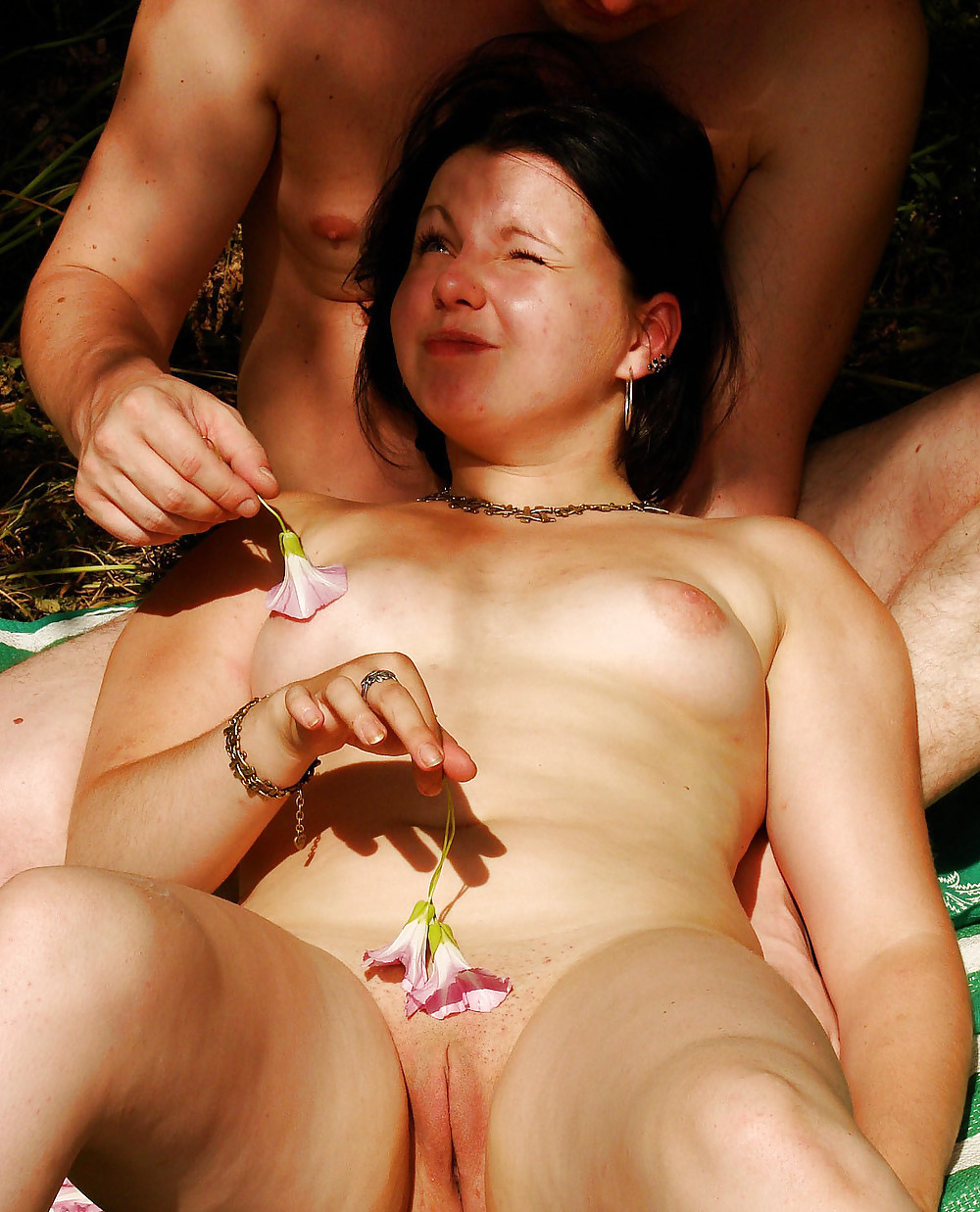 Interracial swingers outdoor glamour