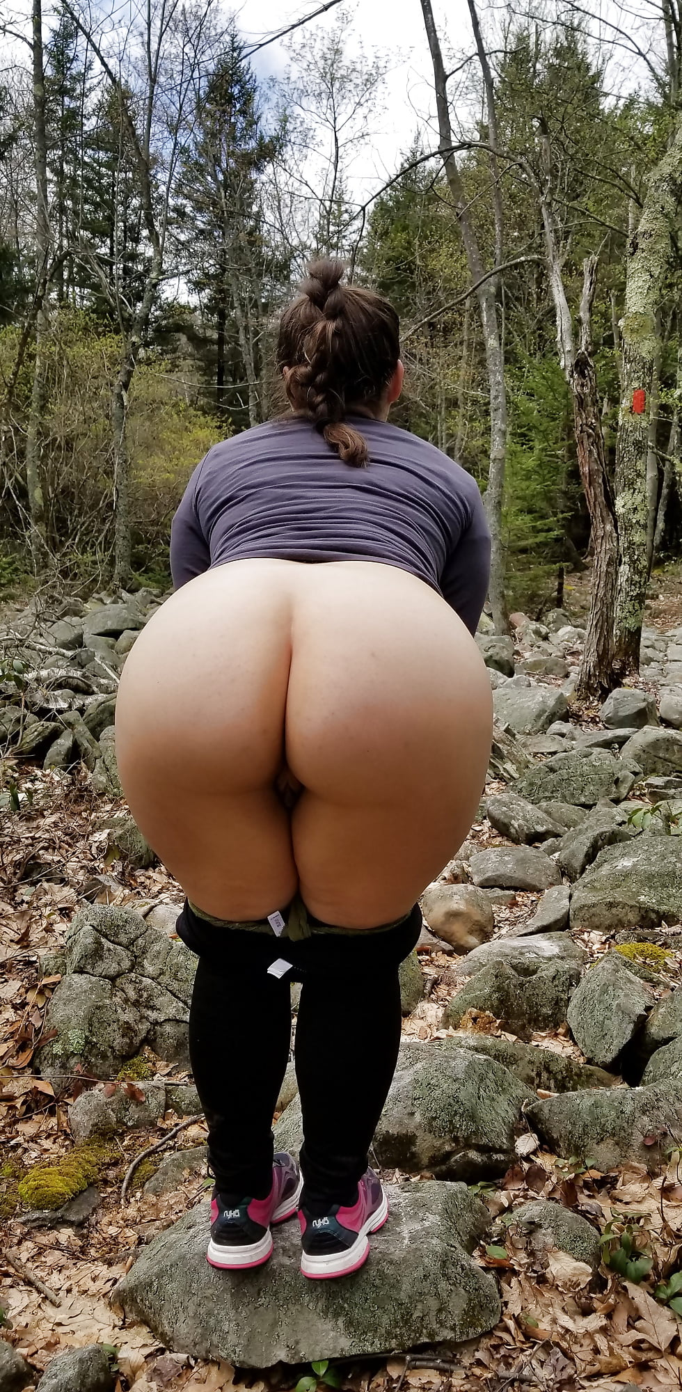 shaved housewife booty Outdoor big