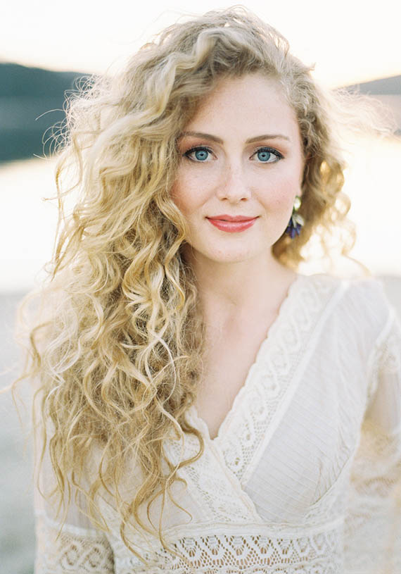 blonde curly Long hair sexy