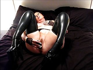 pantyhose stepdad latex Glasses