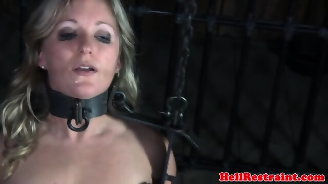 Closeup bdsm watching outdoor