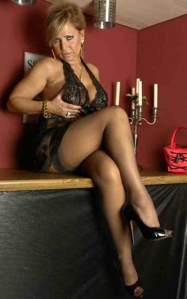 pantyhose Housewife cock chubby monster