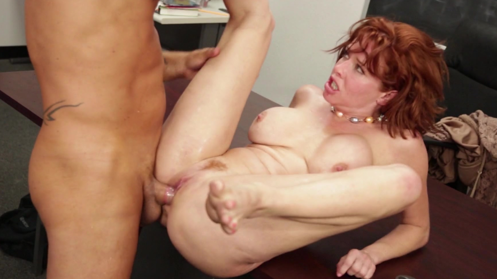redhead curly sex Messy