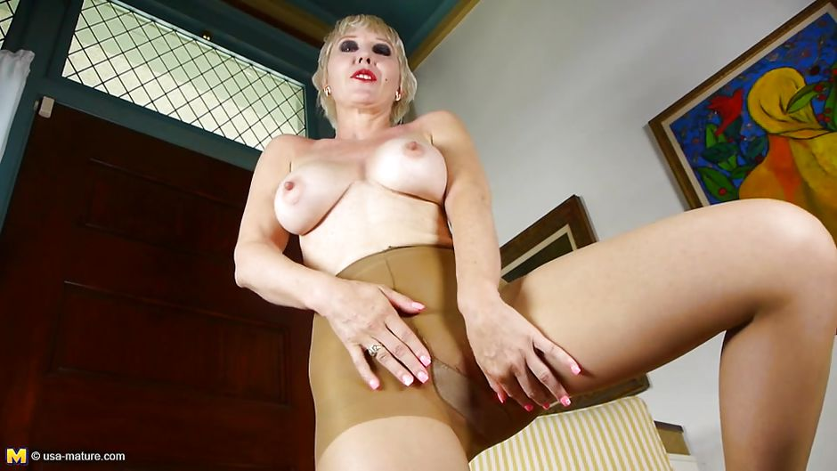 interracial grannies Nylon solo