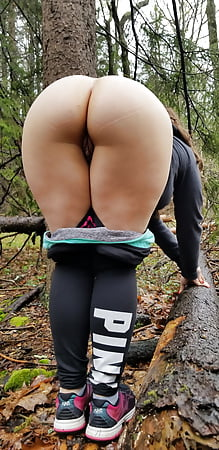 Outdoor shaved housewife big booty