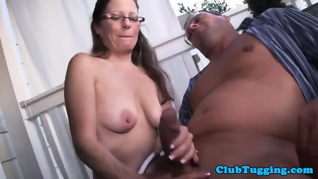 mistress Saggy tugging gym tits