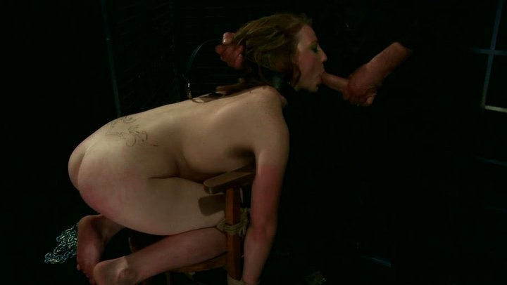 redhead Screaming doggystyle messy